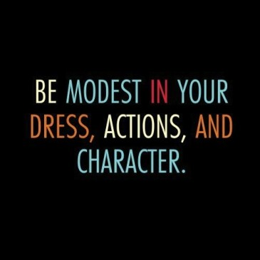 The Reason To Dress Modestly